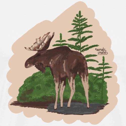 Orignal dans la forêt - T-shirt Premium Homme