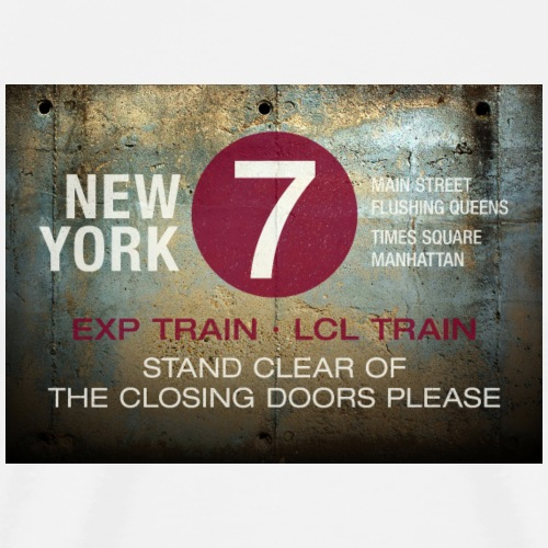 NYC subway stand clear of the closing doors please - Männer Premium T-Shirt