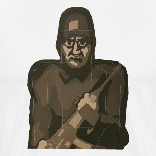 Halvfiguren - Premium-T-shirt herr