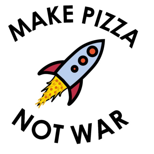Make Pizza not War - Männer Premium T-Shirt