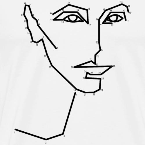 Malen nach Zahlen - Männer Premium T-Shirt