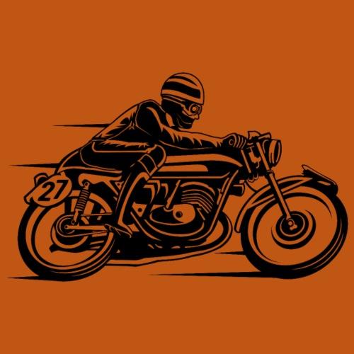 Cafe Racer Motorrad 03_schwarz - Männer Premium T-Shirt