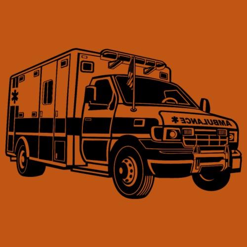Krankenwagen / Rettungswagen 01_schwarz - Männer Premium T-Shirt