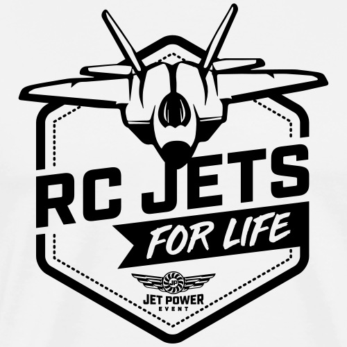 Spruch RC Jets for Life, schwarz - Männer Premium T-Shirt