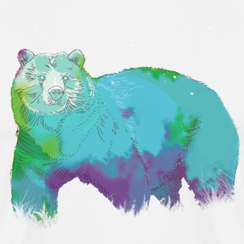 oso acuarela - Camiseta premium hombre