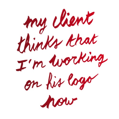 My client thinks | T-shirts Design - Men's Premium T-Shirt