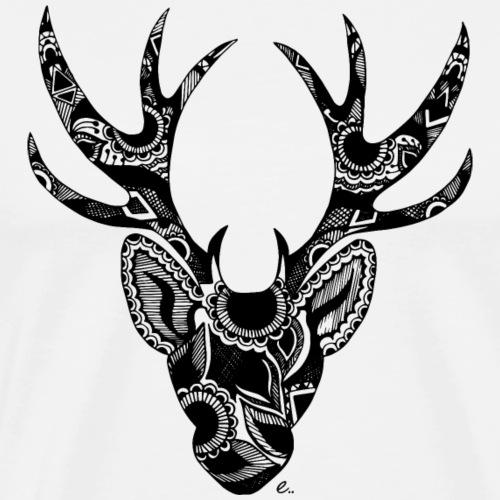 Cerf Mandala - T-shirt Premium Homme