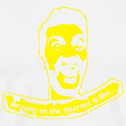 geek arguing - Premium-T-shirt herr
