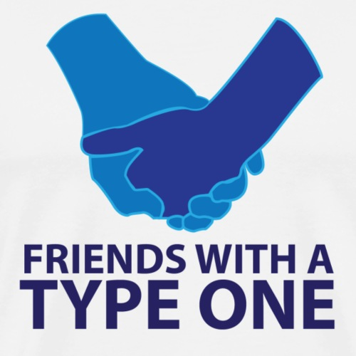 Friends with a Type One - Men's Premium T-Shirt
