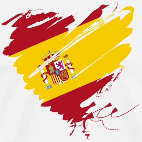 Herz Corazón Spanien España Barcelona Madrid - Men's Premium T-Shirt