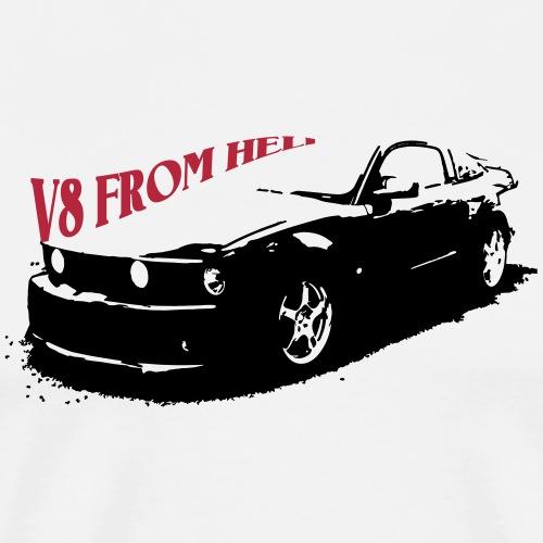V8 From Hell Musclecar - Männer Premium T-Shirt