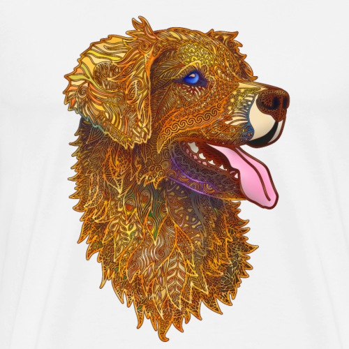 Retriever Golden Filigree - Men's Premium T-Shirt