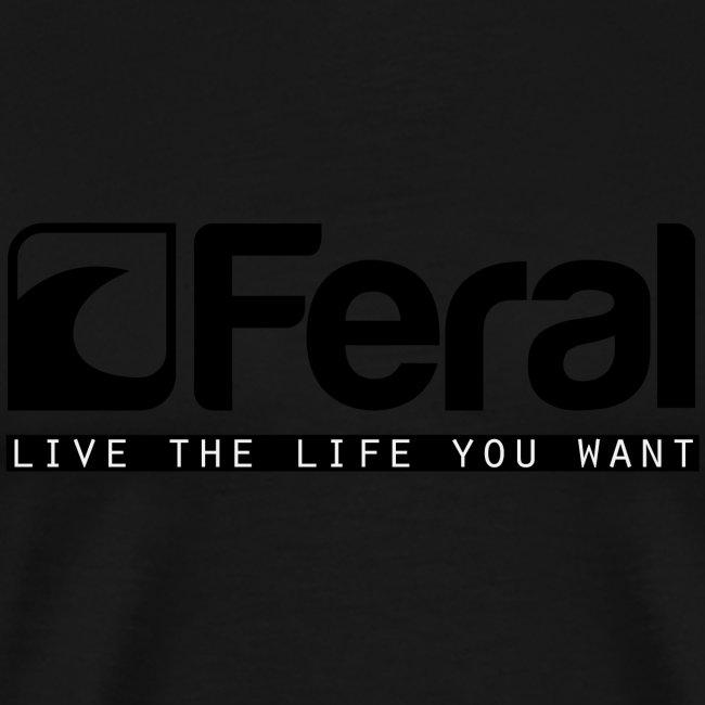 Feral Surf - Live the Life - Black