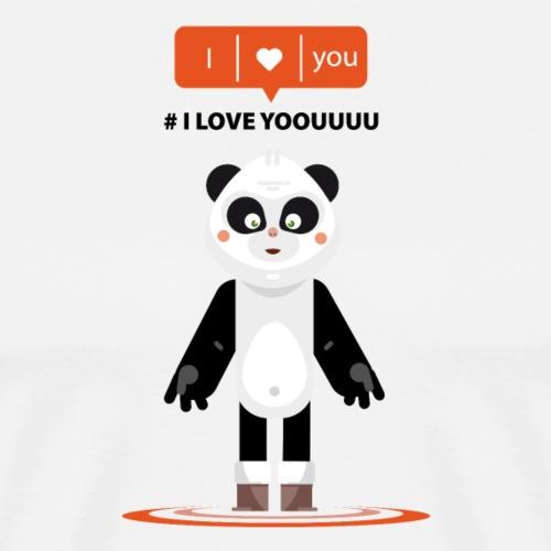 panda i love yoouuu - T-shirt Premium Homme