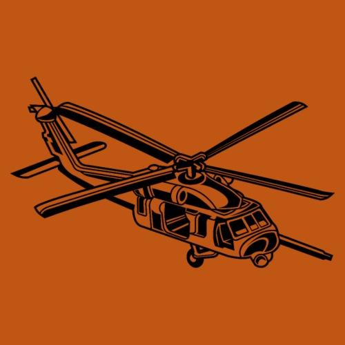 Hubschrauber / Helikopter 01_schwarz - Männer Premium T-Shirt
