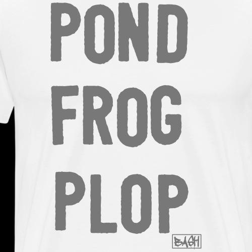 pond frog plop - Männer Premium T-Shirt