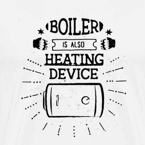 boiler z efektem czarny - Koszulka męska Premium