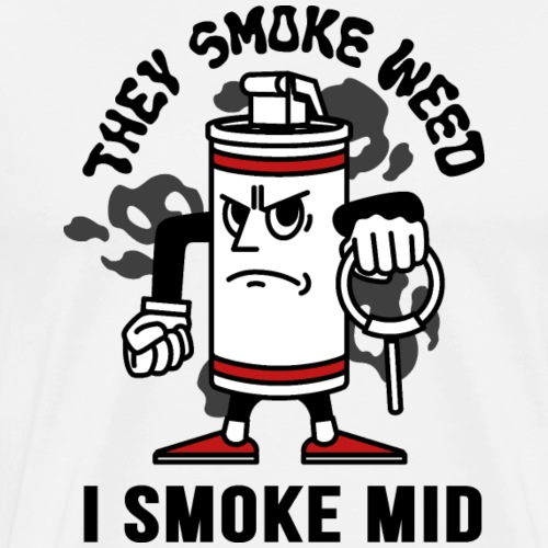 THEY SMOKE WEED I SMOKE MID CS:GO - Men's Premium T-Shirt