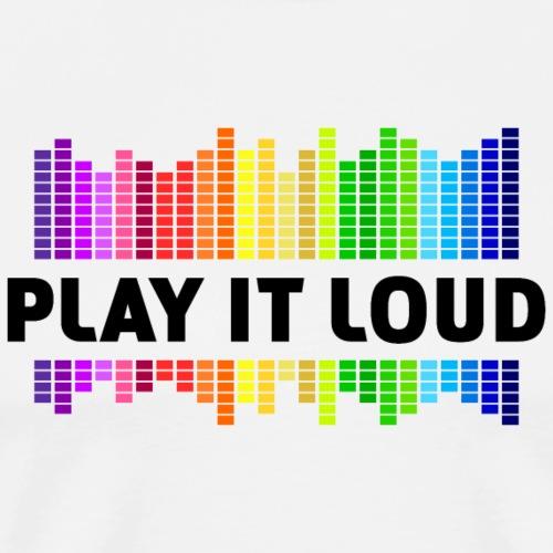play it loud Equalizer Musik Music Dubstep - Men's Premium T-Shirt