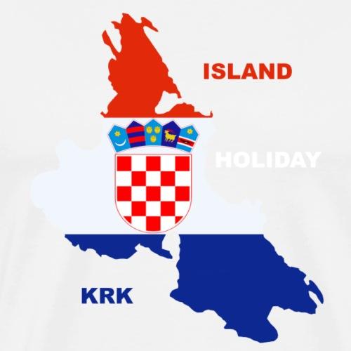 Krk Kroatien Adria Urlaub - Männer Premium T-Shirt