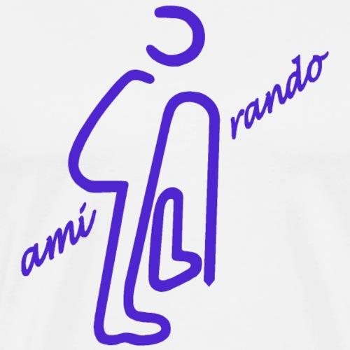 Amirando10 mauve - T-shirt Premium Homme