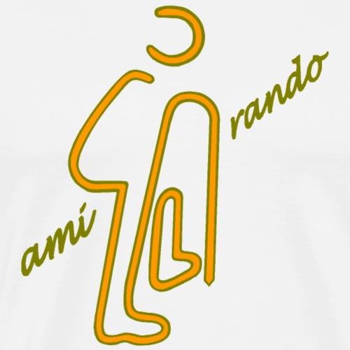 Amirando56 kaki kaki orange - T-shirt Premium Homme