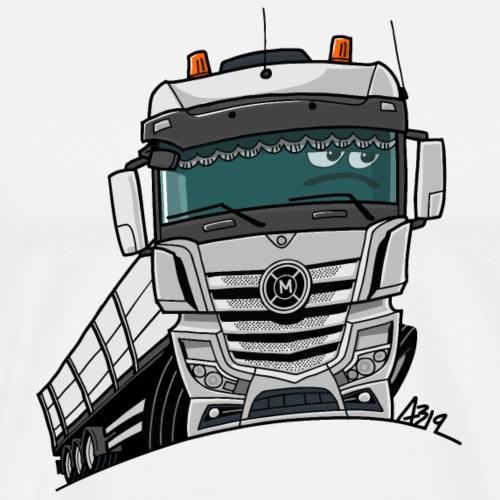 0807 M truck wit trailer - Mannen Premium T-shirt