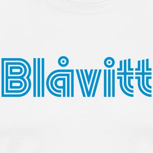 Blåvitt Retro Blå - Premium-T-shirt herr