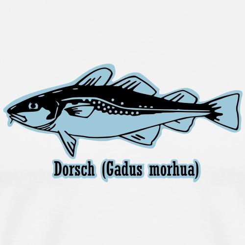 Dorsch (Gadus morhua) Kabeljau Cod - Männer Premium T-Shirt