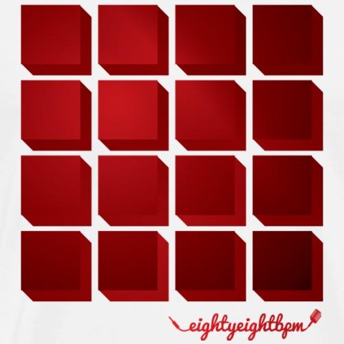 88 BPM MPC 16 Pads (red) - Men's Premium T-Shirt