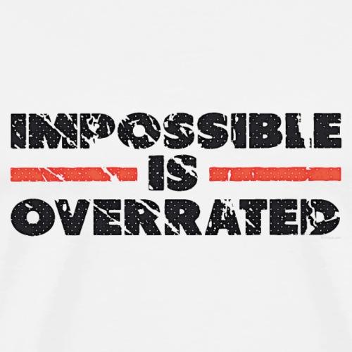 Impossible Is Overrated - Retro - Men's Premium T-Shirt