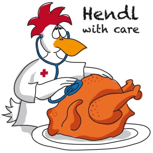 Hendl with care - Männer Premium T-Shirt