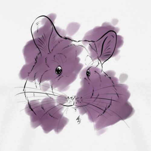 Violet splash chinchilla - Miesten premium t-paita