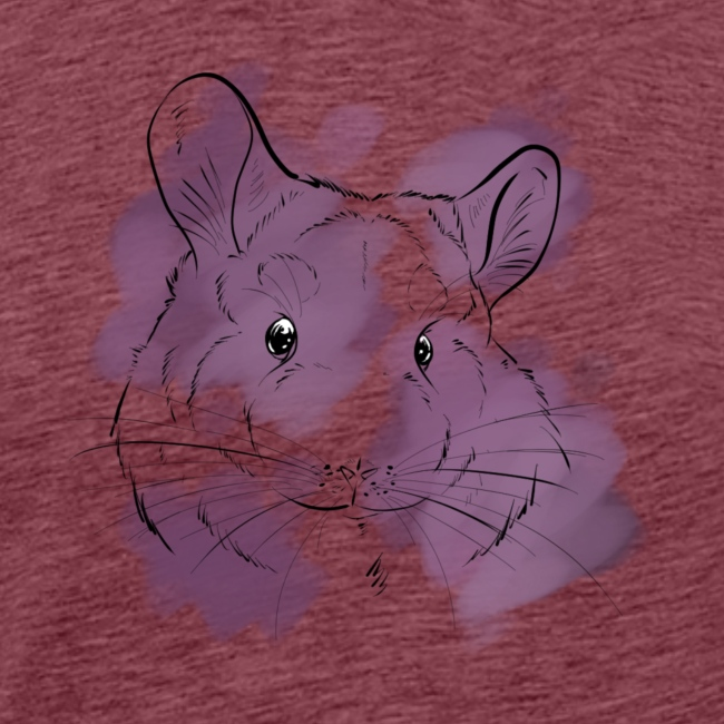 Violet splash chinchilla