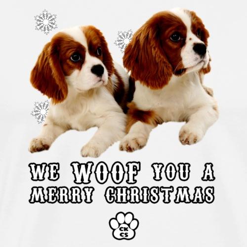 CKCS We WOOF you a Merry Christmas - Men's Premium T-Shirt