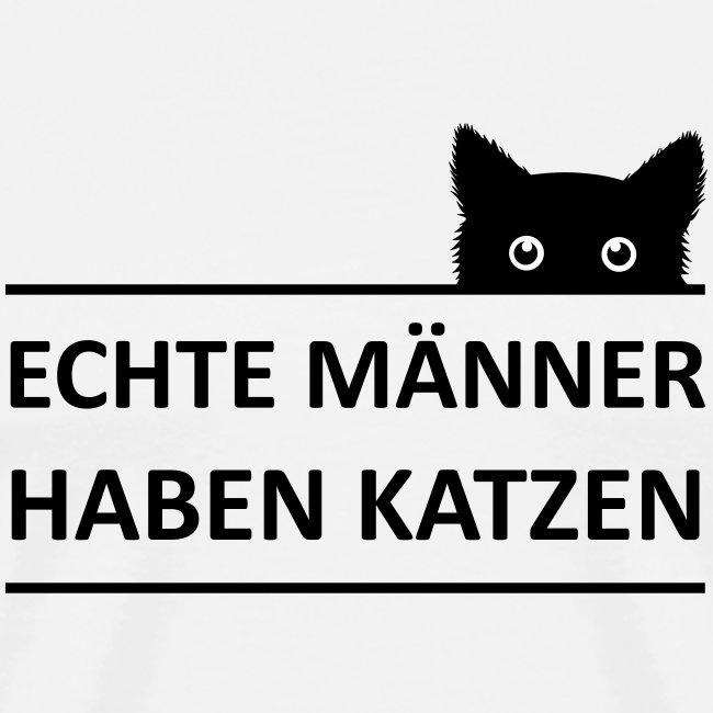 Vorschau: Echte Männer haben Katzen - Männer Premium T-Shirt