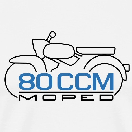 Moped Sperber Habicht 80 ccm Emblem - Men's Premium T-Shirt