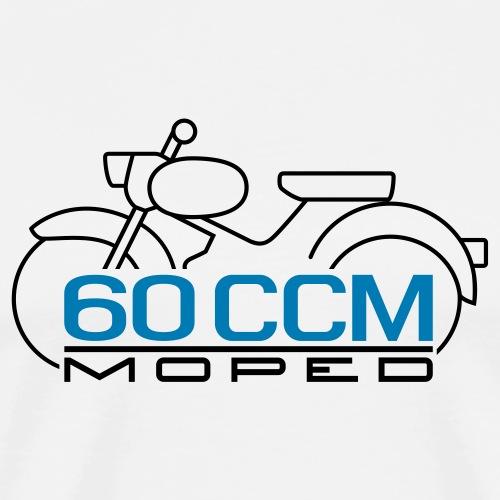 Moped Spatz 60 ccm Emblem - Men's Premium T-Shirt