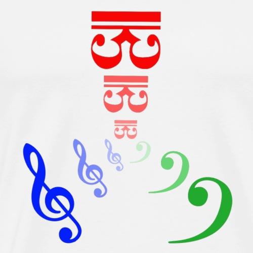 Claves de música - Camiseta premium hombre