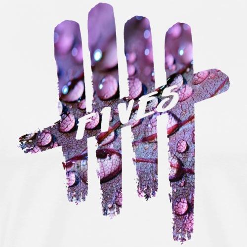FIVES purple drops - T-shirt Premium Homme