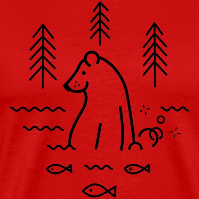 ours qui péte dans l'eau