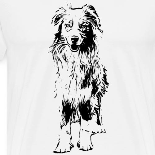 Aussie Australian Shepherd Design Hunde Geschenk - Männer Premium T-Shirt