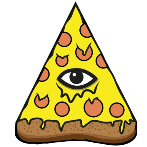 Pizza Illuminatie - Männer Premium T-Shirt