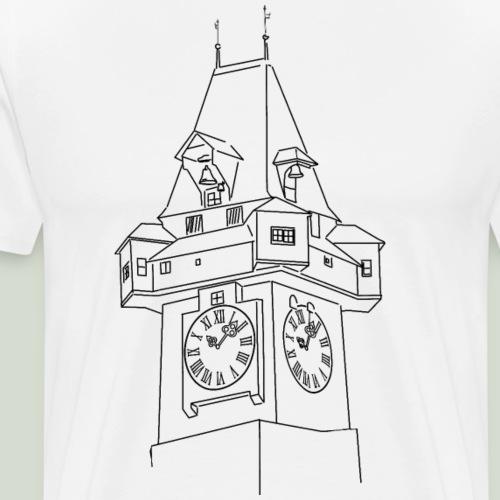 Grazer Uhrturm - Steiermark - Männer Premium T-Shirt