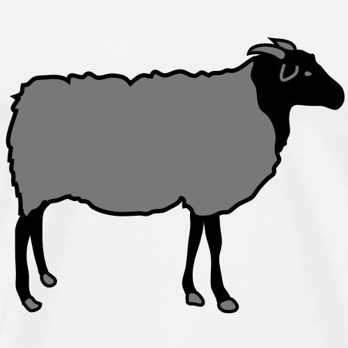 schaf, schafe, lamm, lämmer, heidschnucke - Männer Premium T-Shirt