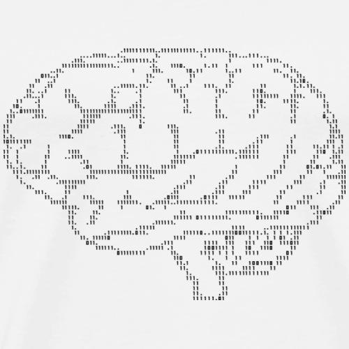 cerveau ascii - T-shirt Premium Homme