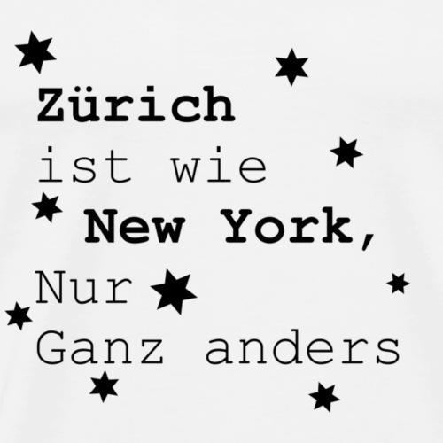 Zürich Schweiz Heimatliebe Lieblingsstadt - Männer Premium T-Shirt