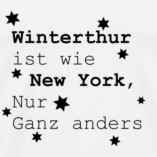 Winterthur Schweiz Heimatliebe Lieblingsstadt - Männer Premium T-Shirt