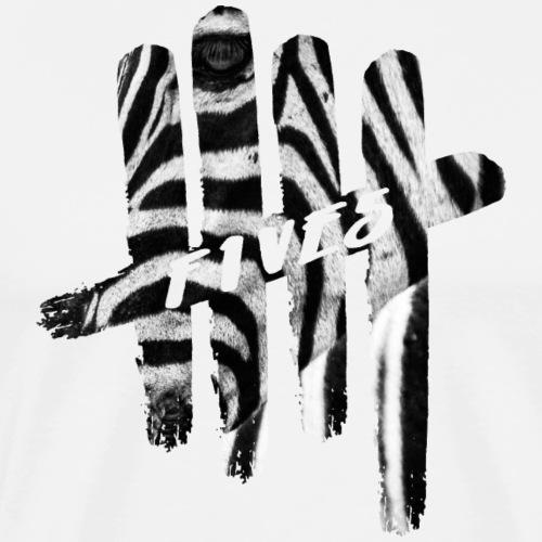 fives zebra - T-shirt Premium Homme