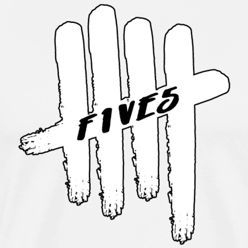 fives white - T-shirt Premium Homme